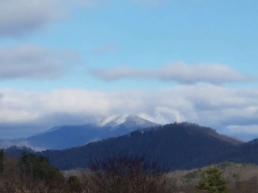 Snow Covered Mountain in Western  North Carolina