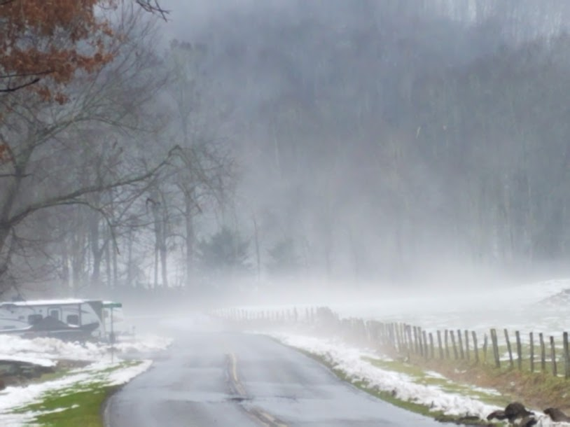 Winter Country Roads Beautifully Mysterious